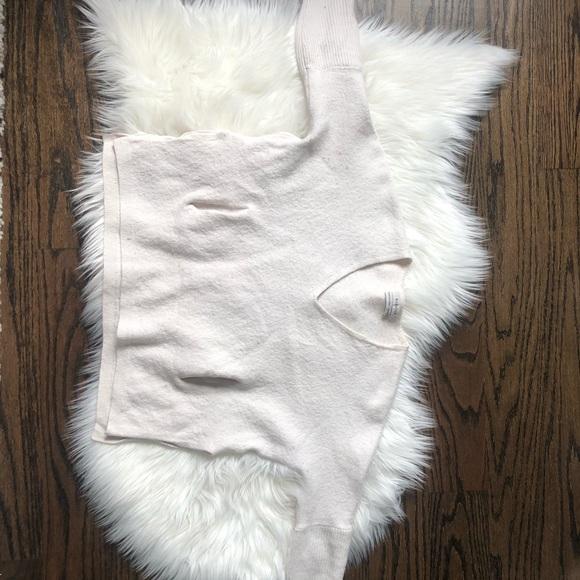 Babaton White Wool Top